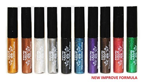 Diamond Glitter & Shimmer Style 10 Piece Liquid Eyeliner Eye