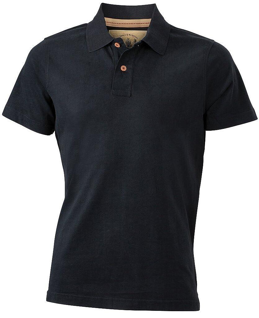 James & Nicholson Slim-Fitting Stylish Polo Shirt in Vintage Look