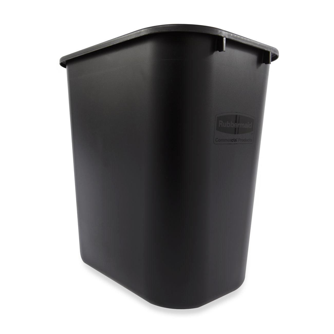 Rubbermaid Commercial 2 gal Rectangular Deskside Plastic Wastebasket FG295200BEIG