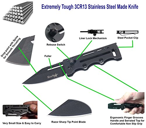 Fully-Stainless-Steel-Made-Small-Folding-Knife-Best-EDC-Knife-Best-Pocket-Knife-for-Camping-and-Hunting