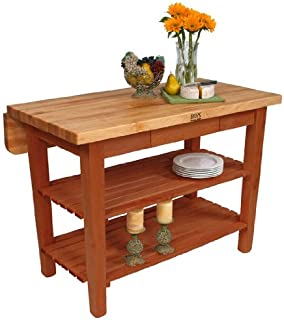 product image for John Boos Kitchen Island Bar Work Table, 48in x 32in, Cherry Base