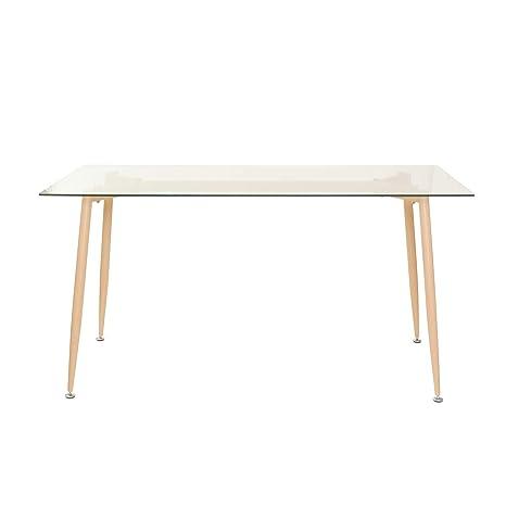 Tavolo Con Piano In Vetro.Tavolo Con Piano In Vetro Da 150x75 Cm
