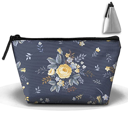 VIMUCIS Portable Printed Trapezoid Zippered Bag Flowers Toiletry - Bella Shopping Thorne