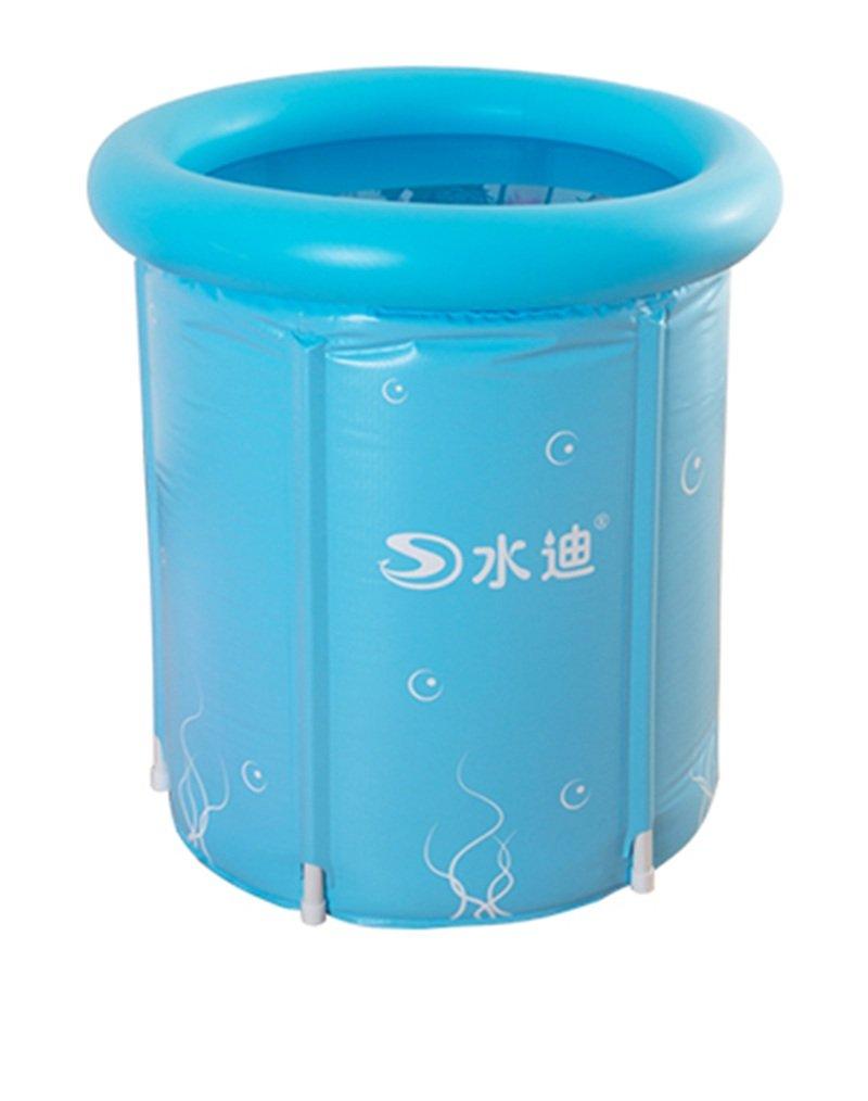 2 ZHDC® Oversized Thicker Adult Tub Fold Plastic Bath Barrels Pink bluee 2.2 Kg 60  70cm Small Folding, convenient ( color    2 )