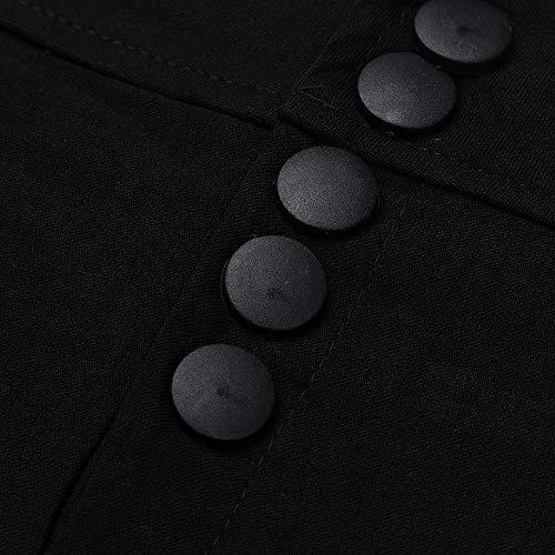 Casuel Pantalon Pieds Décontracté Élastiques Noir Haute Taille Trousers Pants Amuster Large Femme Couleur Uni Sexy Lâche nUw58q07q