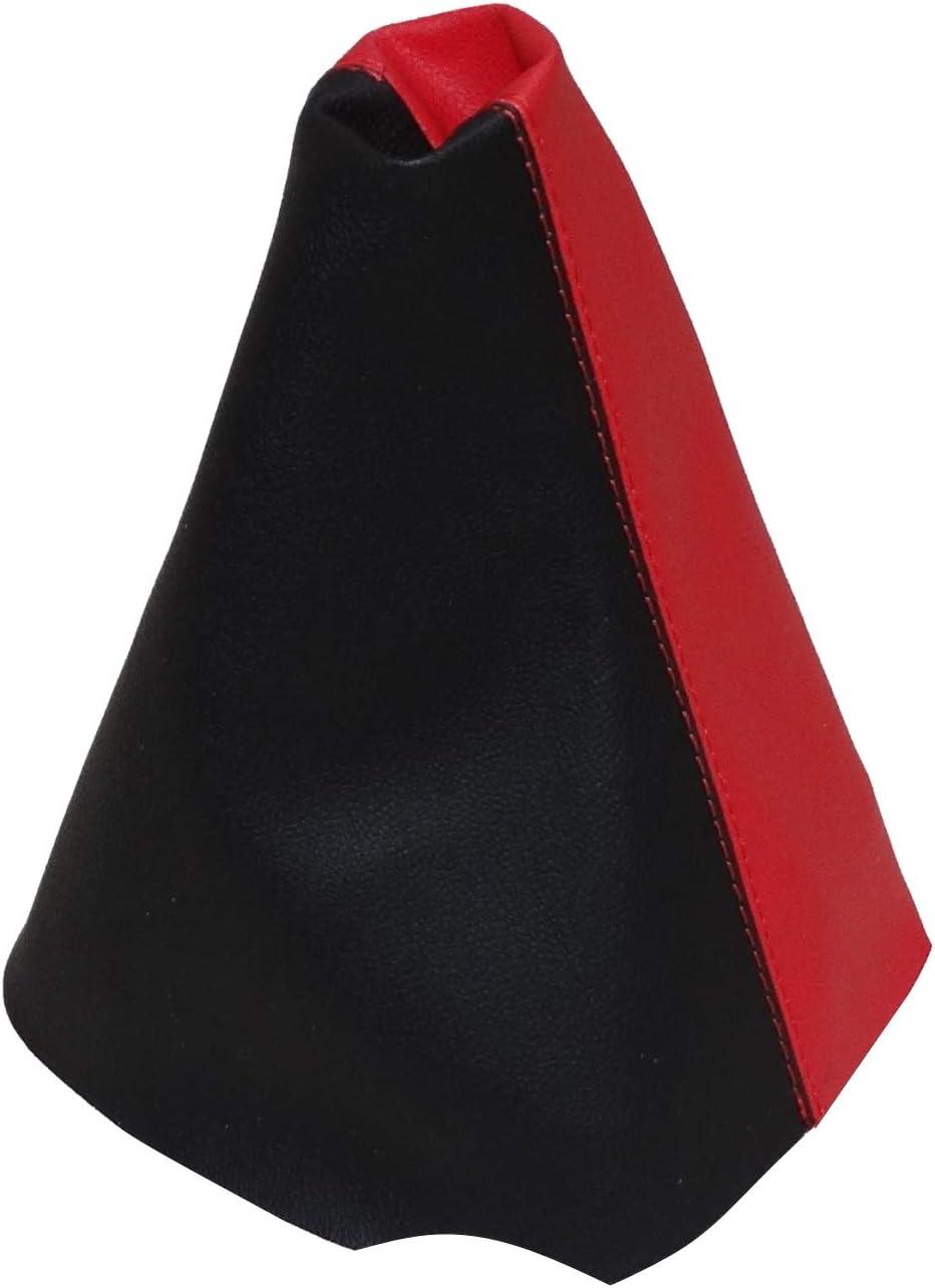 AERZETIX Funda para palanca de cambios de piel sint/ética con costuras de colores variables negro con costuras negro