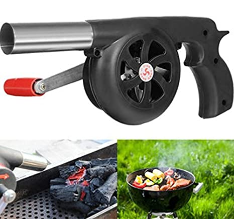 BBQ Charcoal Grill Beads Fire Starter Powerful Fan Blower Large Hand Crank by AdvancedShop