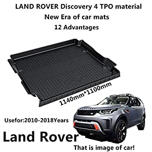 Car Mat Car Trunk Mat Use for Landrover Discovery 4 2010-2018 Years TPO Material Rubber Rear Trunk Cargo Liner Trunk Tray Floor Mat Cover 1 PCS Antibacterial, Waterproof, Odorless
