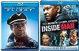 Flight Blu Ray & The Inside Man Blu Ray + DVD 2 Pack Denzel Washington Double Feature Bundle Action Movie Set