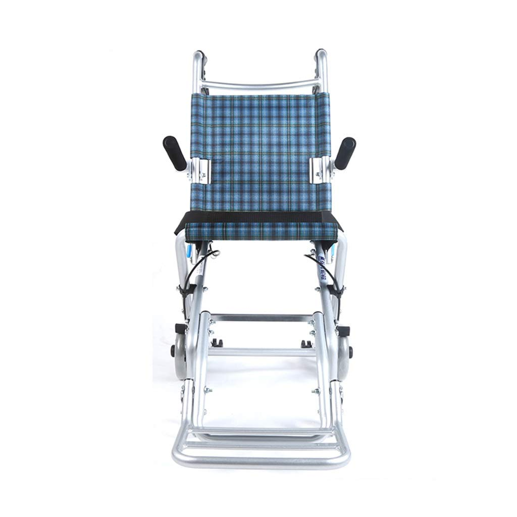 MLX Travel Version of Wheelchair, Aluminum Alloy for The Elderly, Wheelchair, Breathable Cushion, Comfortable Armrest, Suitable for Standing Down Limbs by MLXCY