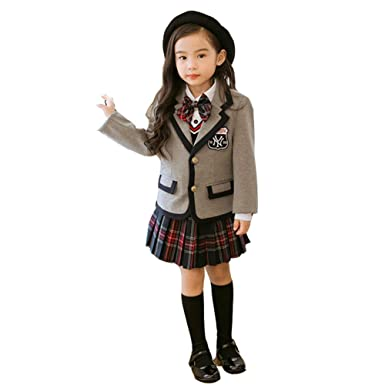 293e37f38d0e9 Ymgot 子供制服 フォーマル スーツ 女の子 発表会 卒業式 入学式 スーツ 4点セット