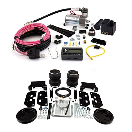 Air Lift 88295/72000 Rear Set of Load Lifter 5000 Ultimate Series Air Springs w/Wireless AIR Dual Path On-Board Air Compressor System Bundle for ()