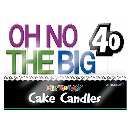 Amscan 177502 Oh No& 40 Toothpick Set Candles, 3