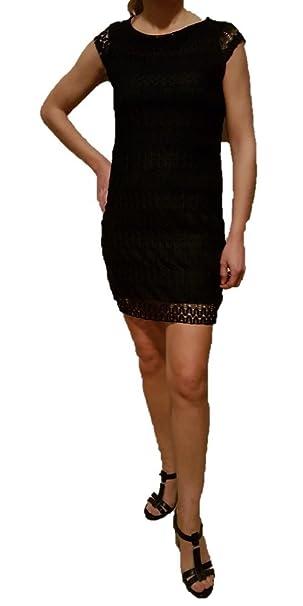 Abiti Eleganti Taglia 44.Abito Vestito Donna Tubino Elegante Colore Nero Manica Corta