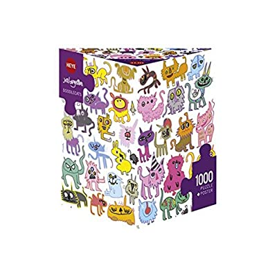 Heye Doodlecats, Burgerman 1000 pcs puzzle: Toys & Games