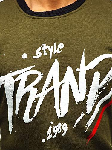 Le Vert dd309 À La Travers Sportif Rond Sans Homme Bolf 1a1 Capuche Imprimé Sweatshirt Tête Inséré Style Col wAxPcq4STa