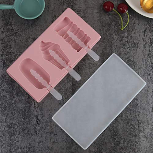 Samoii Ice Cream Mold with Lid Popsicle Mold Chocolate Molds Cupcake Baking Cups Watermelon Corn Cube Silicone for Kids