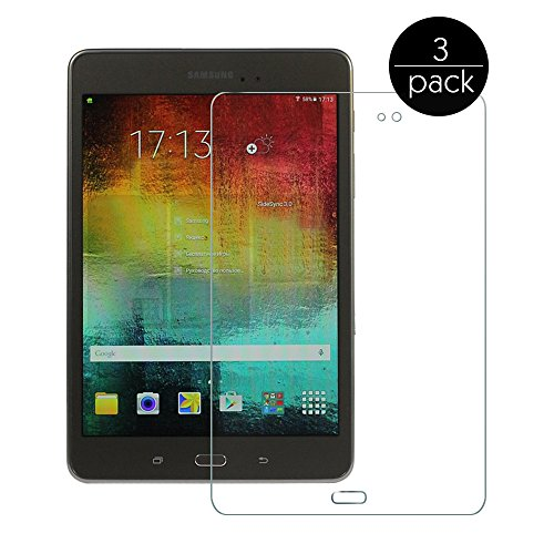 FanTEK Screen Protector Work for Samsung Galaxy Tab A 8.0 SM-T350 8-Inch Tablet - 3 Pack Ultra Thin Crystal Clear High Definition Anti-Bubble Cover Guard Screen Protector