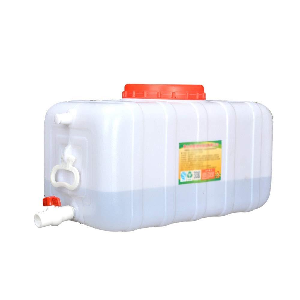 水平長方形貯水塔大容量家庭用PEプラスチック製水タンクカバーおよび排水バルブ耐腐食性および高温耐性 (Size : 31x14.6x15.4inch)  31x14.6x15.4inch