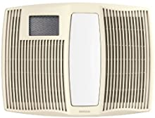 Broan Very Quiet Ceiling Heater, Fan, and Light Combo for Bathroom and Home, 0.9 Sones, 1500-Watt Heater, 60-Watt Incandescent Light, 110 CFM