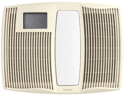 Broan-Nutone  QTX110HL  Very Quiet Ceiling Heater, Fan, and Light Combo for Bathroom and Home, 0.9 Sones, 1500-Watt Heater, 60-Watt Incandescent Light, 110 CFM