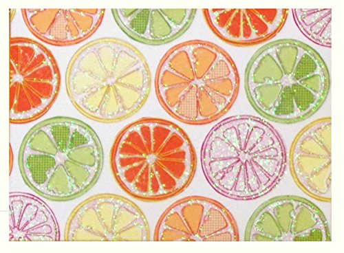 - Citrus Fruits - 14 Blank Note Cards with 15 Color-Coordinated Envelopes