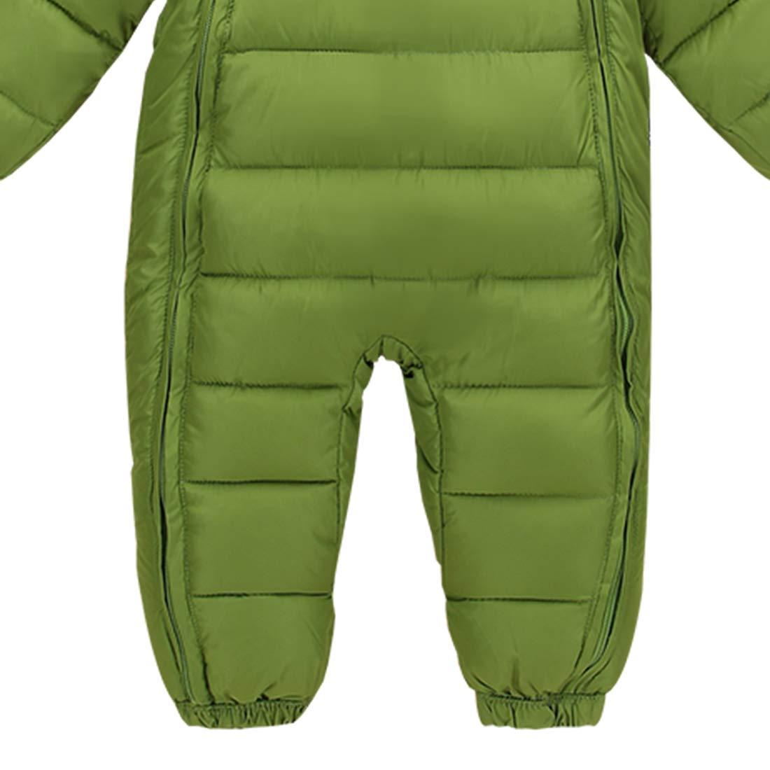 Baby Toddler 3 Piece All in One Snowsuit Romper Snowsuit Zipper Padding Onesie