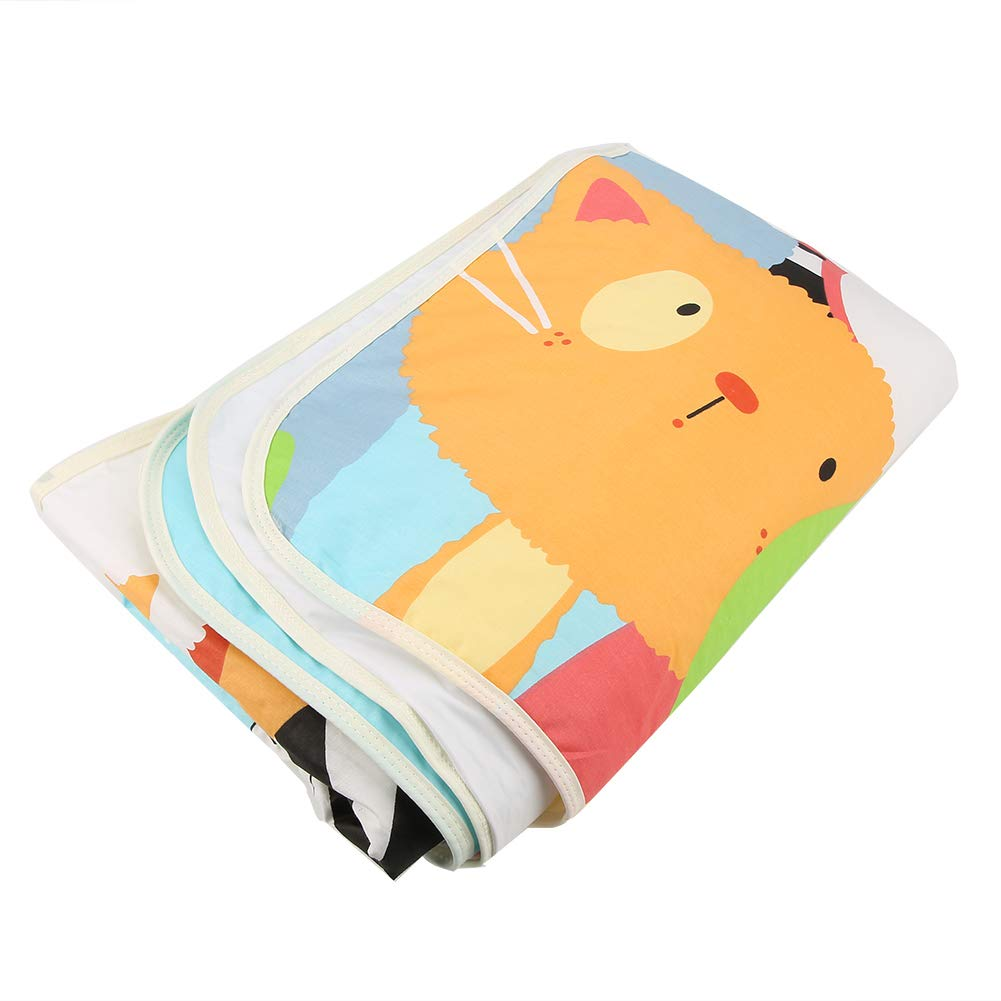 #4 110 x158cm Waterproof Baby Pads Cartoon Diaper Nappy Changing Pad Mat Ultra Soft Absorbent Cotton Urine Pads Blanket Washable Sheet Protector Bed Cover Menstrual Pads
