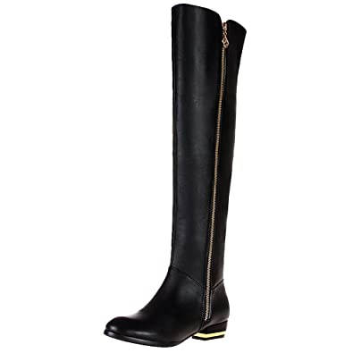 6e9ed7d820b rismart Women s Zip Fashion Over The Knee High Leather Riding Boots SN02749( Black