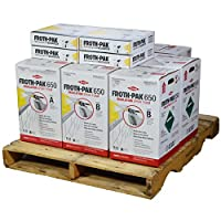 Dow FROTH-PAK 650, 4 Spray Foam Insulation Kits, Class A Fire Rated, Closed Cell Foam, Covers 2600 sq ft