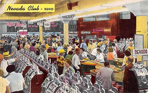 Reno Nevada Nevada Club Casino Slot Machines Vintage Postcard JE359164