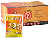 Tundras Air Activated Toe Warmers, 40 Count - Disposable Safe Heating Pads for Shoes, Boots – Odorless and Comfortable for Outdoor Work, Sports and Activities – Up to 6 Hours of Heat
