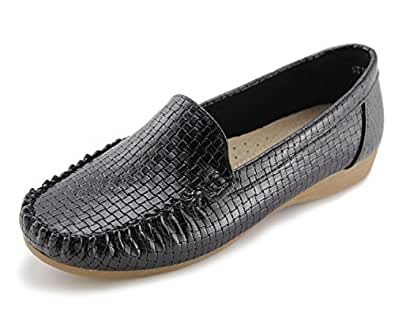 c601a6c807 Jabasic Women's Slip-on Loafers Flat Casual Driving Shoes