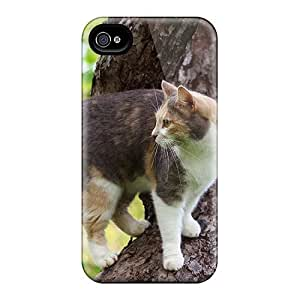 Tough Iphone Wdwjtgs1038ttCVd Case Cover/ Case For Iphone 4/4s(cat On Tree)