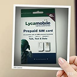 Lycamobile Preloaded Sim Card with $29 Plan Include 2 Month Free Service With Iphone Ejector Pin UNLIMITED TALK TEXT & 1GB DATA