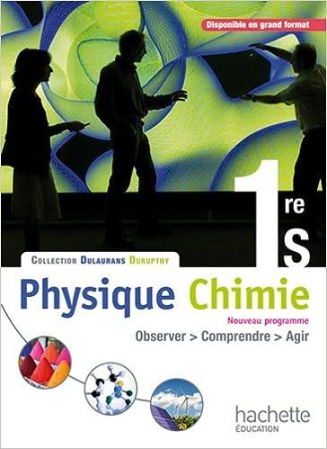 Livre gratuits en ligne Physique-Chimie 1re S - Livre élève Format compact - Edition 2011 epub, pdf