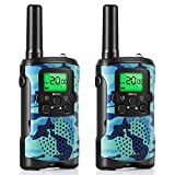 VANTAKOOL Walkie Talkies for Kids, 22 Channel 2 Way Radio 3 Mile Long Range Kids Toys, Up to 3KM UHF Handheld Walkie Talkies, Toys and Gifts for 4, 5,6, 7, 8 Year Old Boys and Girls