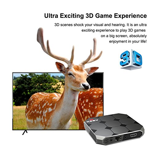 Sawpy A95X R2 Android TV Box Android 7.1 Smart TV Box CPU 2GB +16GB 64bit Quad Core 4K UHD WiFi & LAN VP9 DLNA H.265