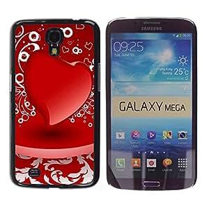 Paccase / SLIM PC / Aliminium Casa Carcasa Funda Case Cover - D red heart - Samsung Galaxy Mega 6.3 I9200 SGH-i527
