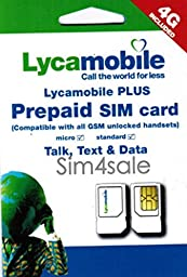 Lycamobile Preloaded/PREFUNDED NANO Sim Card comes with FIRST FREE $29 Monthly Plan