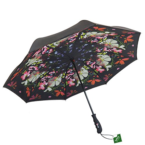 Repel Reverse Folding Umbrella with 2 Layered Teflon Canopy and Reinforced Fiberglass Ribs (Flower - New Glasses Frames Getting