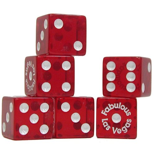 Trademark Poker Fabulous Las Vegas Dice, Pack of 25