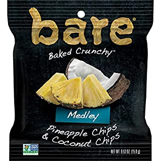Bare Baked Crunchy Medleys, Pineapple Coconut, 0.53oz Snack Bags (12 Pack), 12 Count