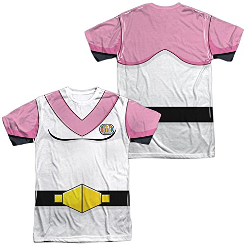 Trevco Unisex-Adults Voltron Allura Costume Double Sided T-Shirt, White, (Voltron Force Costume)