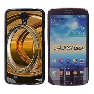 Estuche Cubierta Shell Smartphone estuche protector duro para el teléfono móvil Caso Samsung Galaxy Mega 6.3 I9200 SGH-i527 / CECELL Phone case / / Abstract Gold Ring /