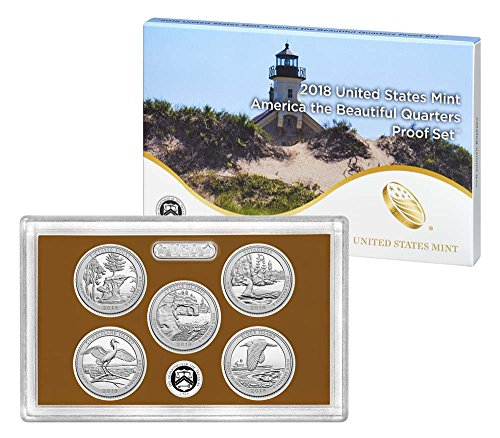 2018 S United States Mint America The Beatiful Quarters Proof Set Original Mint Packaging