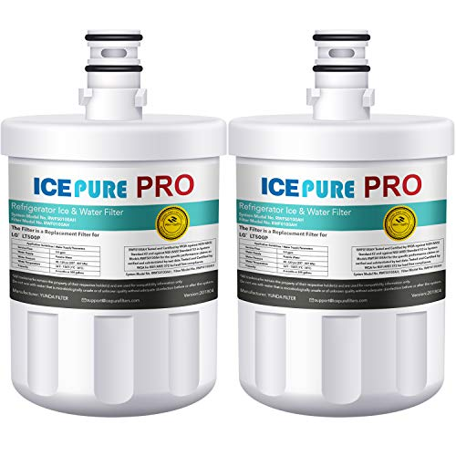 ICEPURE PRO LT500P NSF 53&42 Certified Refrigerator Water Filter, Compatible with LG LT500P, 5231JA2002A, ADQ72910901, Kenmore GEN11042FR-08, 9890, 46-9890, Advanced Series (2 PACK)