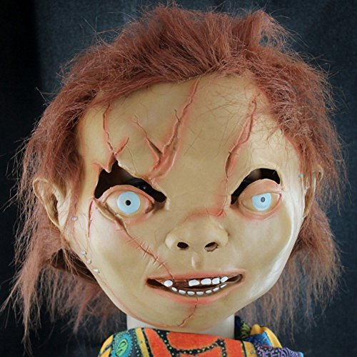 Bad boy latex headgear/Zombie scar face/Bar Chamber Haunted scary mask-A (Scary Maska)