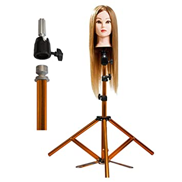 Female Cosmetology Mannequin Head Wig Making Model with Adjust Tripod Stand