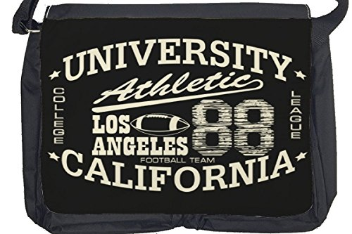 Borsa Tracolla Retro Los Angeles athletic Stampato